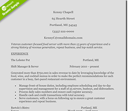 Restaurant Supervisor Resume  Restaurant Supervisor Resume